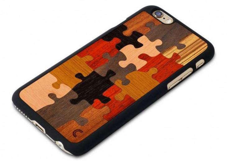 funda para iphone con diseño de rompecabezas en la parte trasera