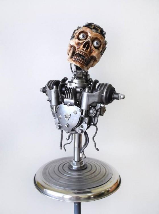 cuerpo humano hecha de basura Igor Verniy