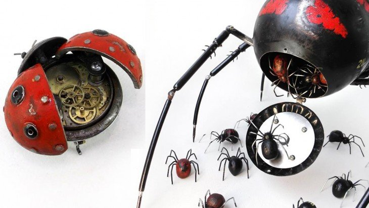 insecto mariquita hecha de basura Igor Verniy