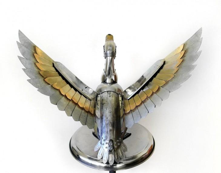ganso volando hecha de basura Igor Verniy