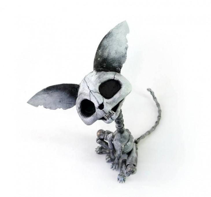 perro hecha de basura Igor Verniy