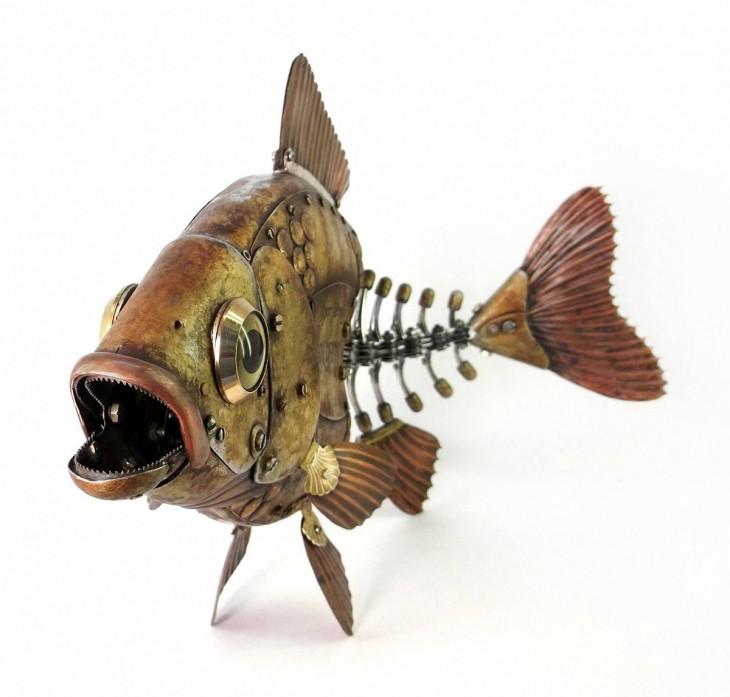pez hecha de basura Igor Verniy