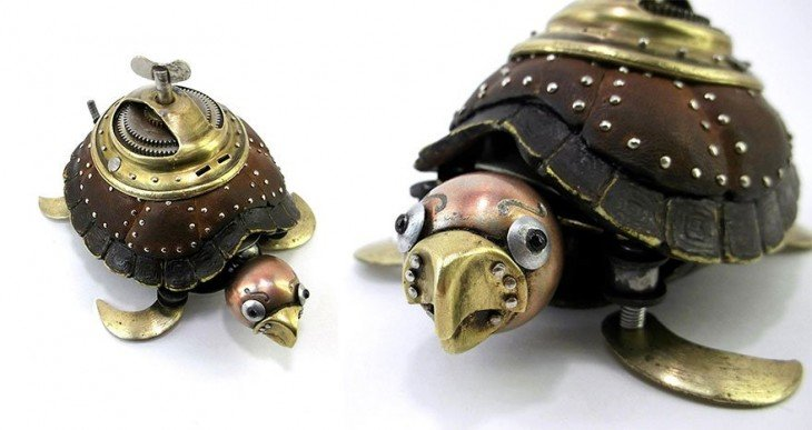 tortuga hecha de basura Igor Verniy