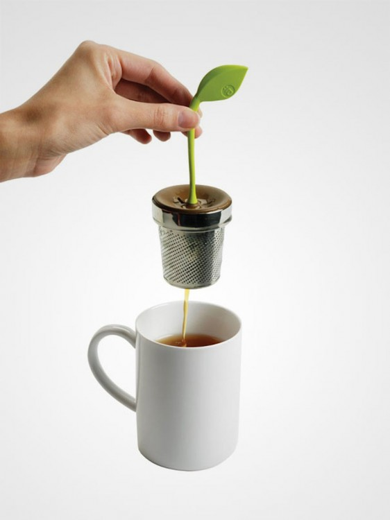 infusor en forma de planta