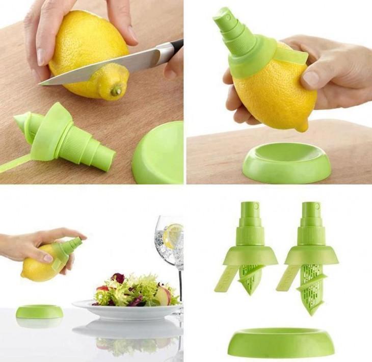 Herramienta en spray que se le coloca a un limón