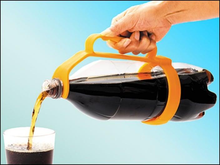 Sujetador para botellas de plástico
