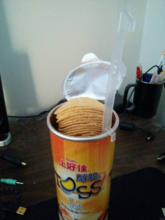 Dispositivo para levantar papas pringles