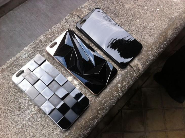 Varios diseños de fundas para Iphone de piedra Piedra obsidiana