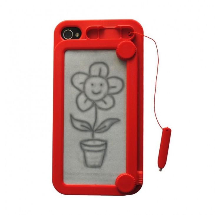 Funda para Iphone con tablero de dibujo en la parte trasera