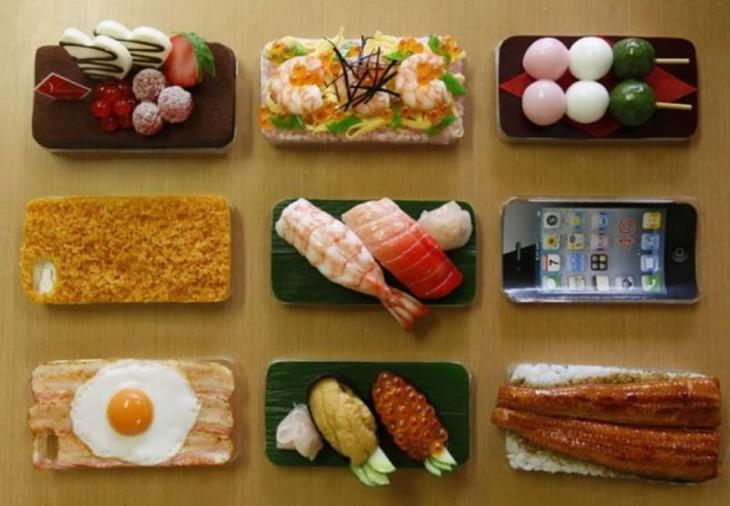 Fundas para iphone con diferentes diseños de comida