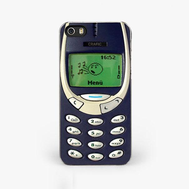 diseño de celular antiguo Nokia para una funda de Iphone