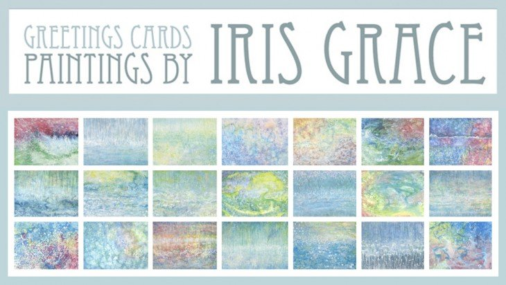 tarjetas que ha pintado la niña con autismo