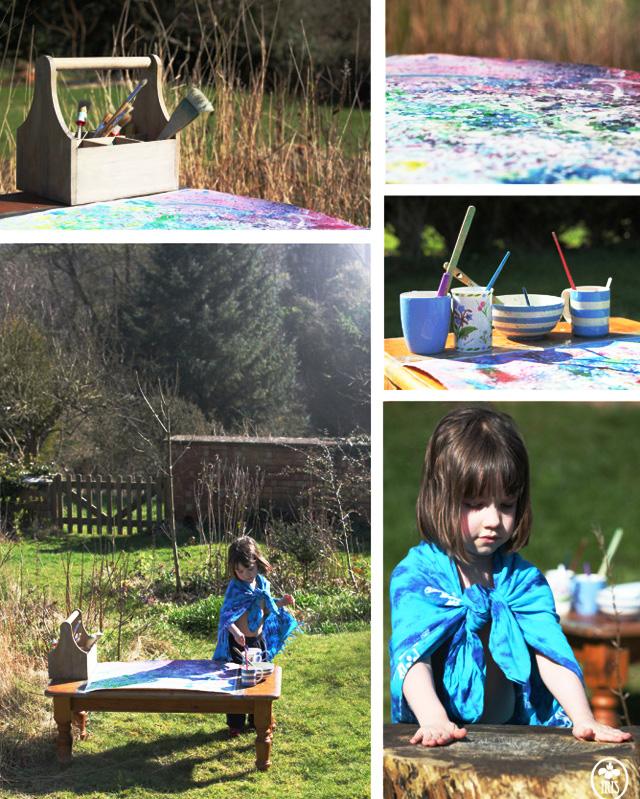 iris pintando en el campo