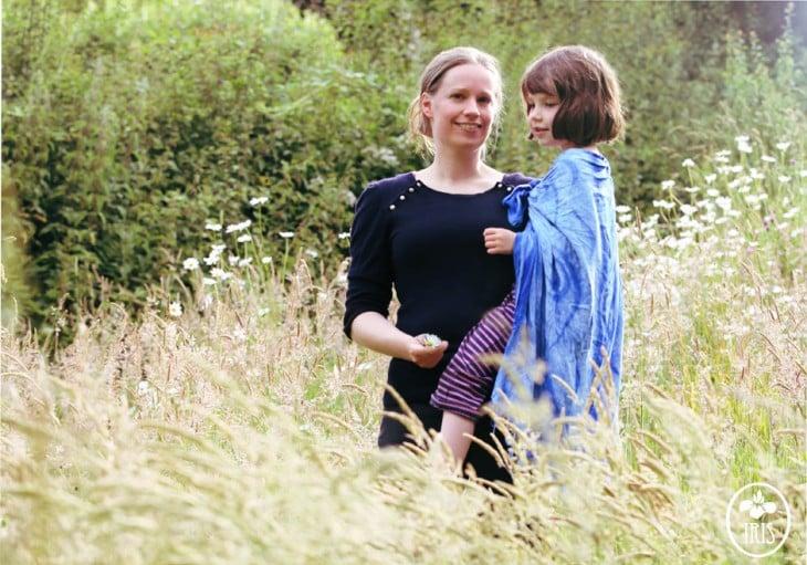 iris grace con su mamá