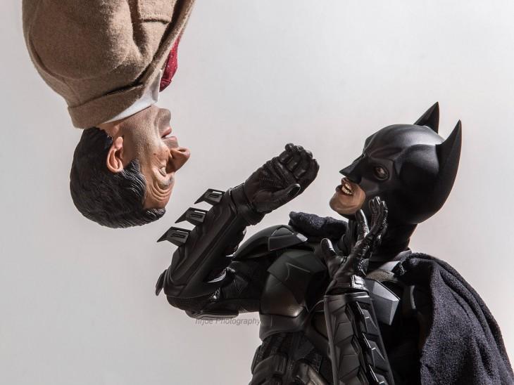 batman y mister bean en versión irónica de Edy Hardjo.