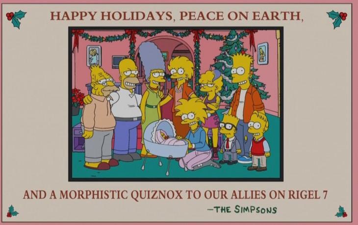 Los simpson en el futuro con nietos, saludo navideño