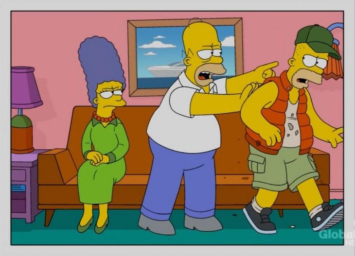Los simpson corren a Bart de la casa