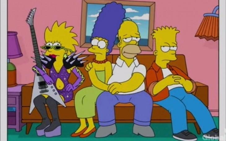 Los simpson en el sofá, Maggie Rockera