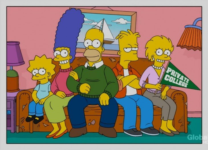 Los simpson Lisa se va a la Universidad