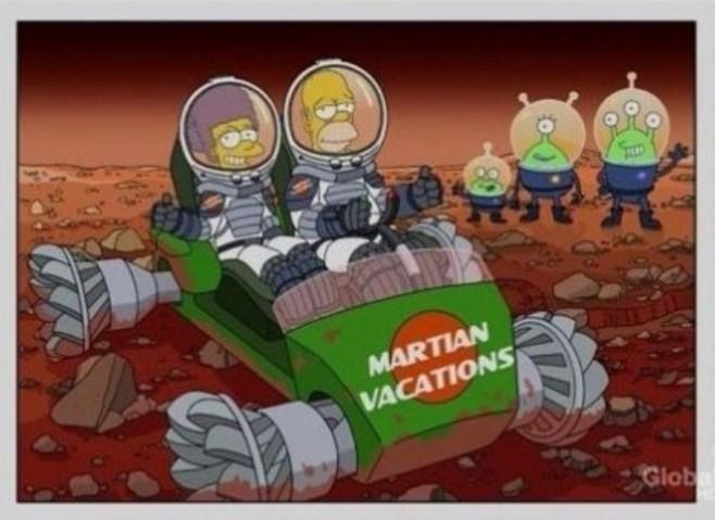 Los simpson Vacaciones en Marte