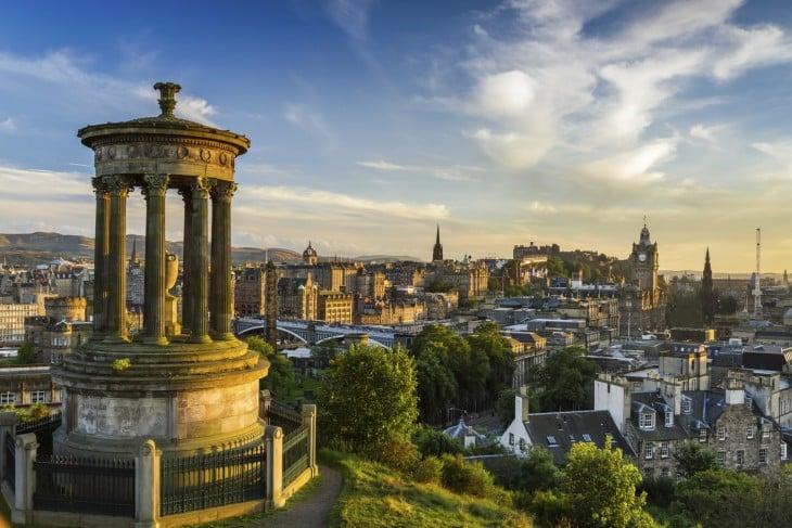 Lugar de la ciudad Edimburgo en Escocia