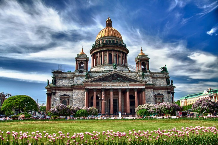 Catedral San Isaac ubicada en San Petersburgo, Rusia