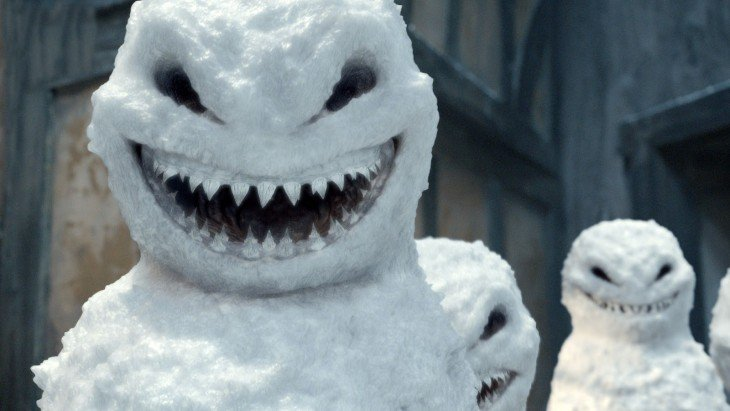 Muñeco de nieve sonrisas malvadas