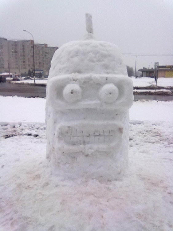 Muñeco de nieve Bender (futurama)