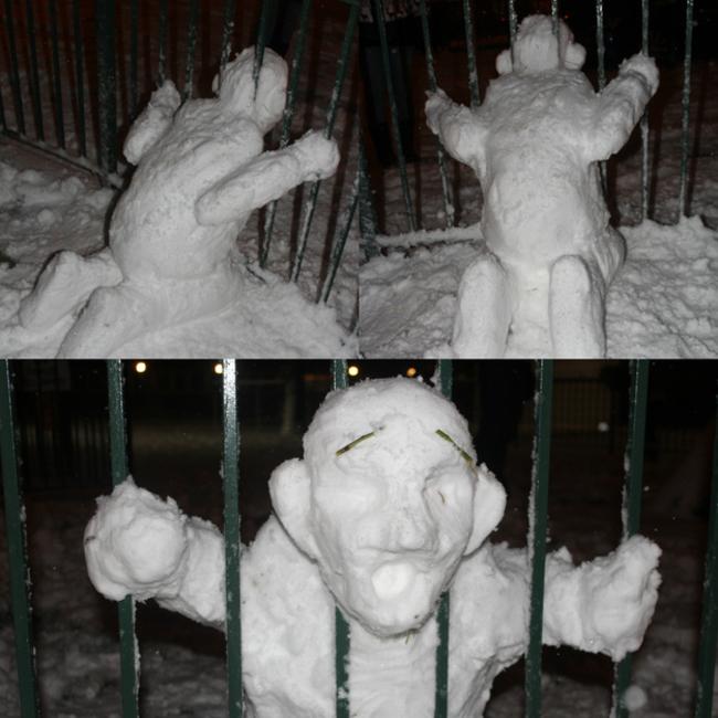 Muñeco de nieve presos
