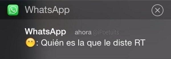 Whatsapp de novia celosa que vigila twitter