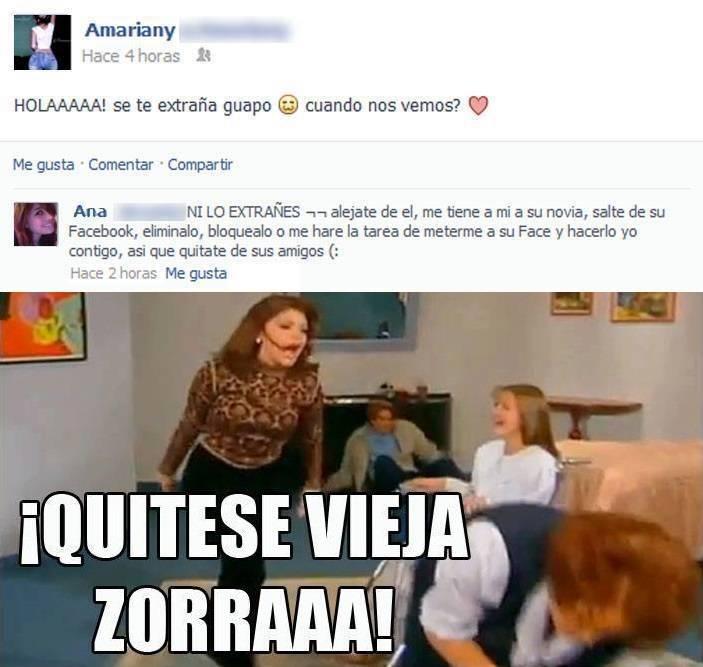 Novia celosa comenta publicaciones en Facebook