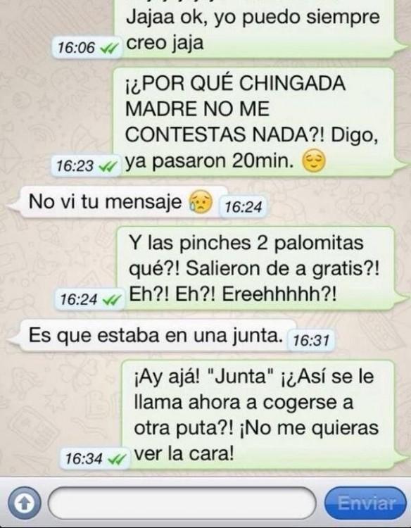 whatsapp de novia histérica