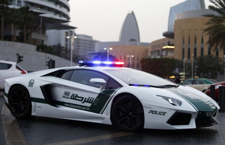Lamborgini como patrulla de la policía de Dubai