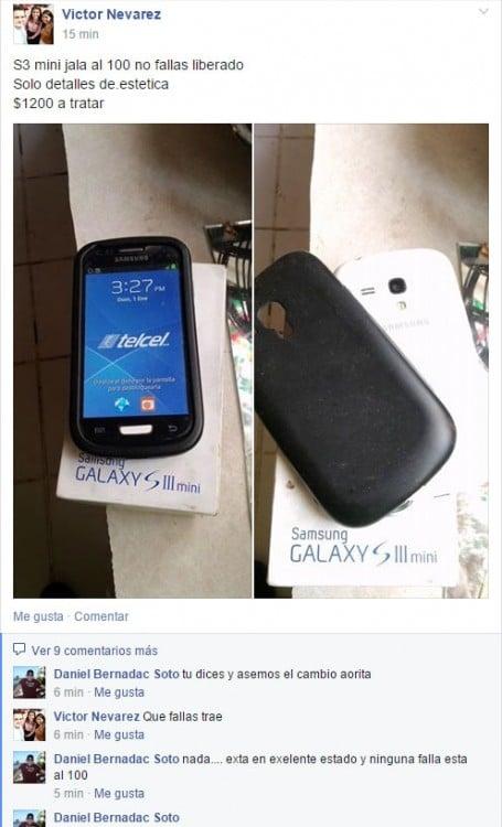 Captura de pantalla de personas que venden cosas a través de Facebook