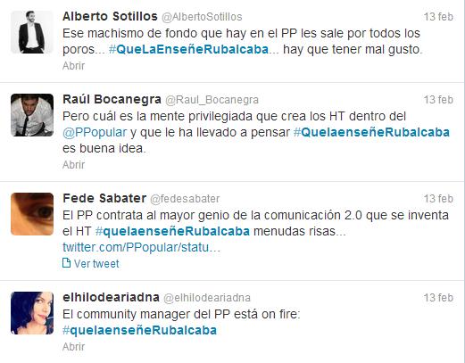 foto de pantalla de comentarios de usuarios de Twitter acerca de política