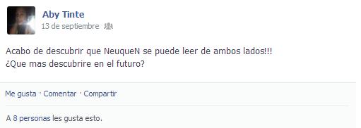 Captura de pantalla de una chica escribiendo incoherencias en su facebook