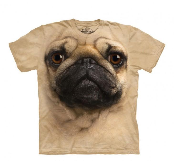 Playera con cara de un perro Pug