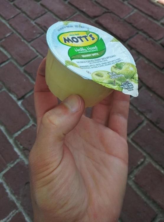 envase de puré de manzana