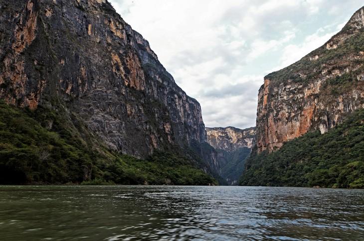 Fotografía tomada en el cañón del sumidero Chiapas