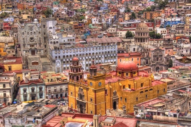 Vista aérea de Guanajuato México