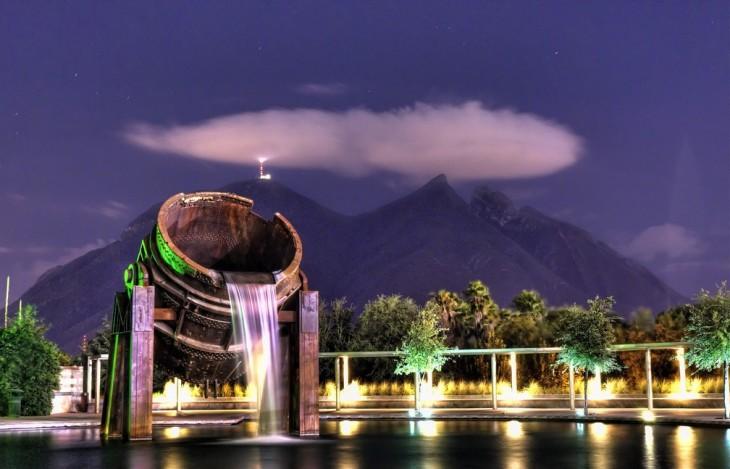 Fotografía tomada en el parque fundidora en Monterrey Nuevo León