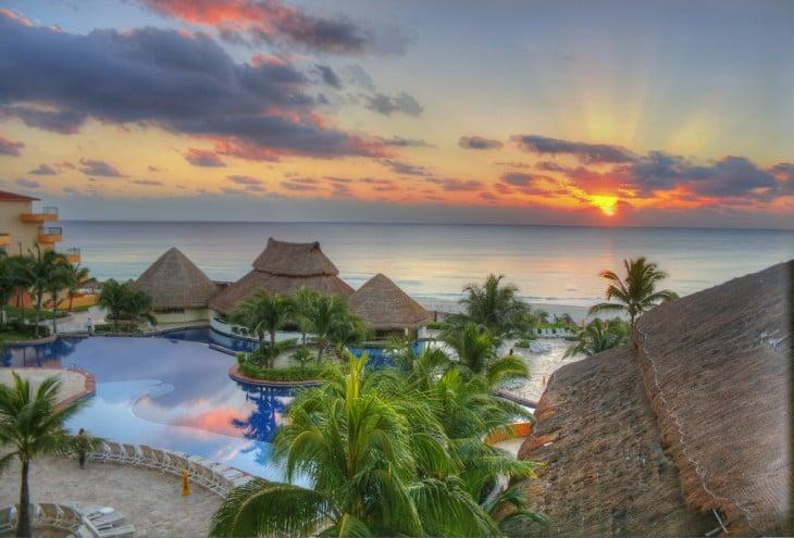 Fotografía tomada en la zona hotelera de Cancún Quintana Roo