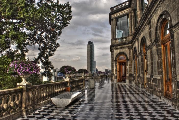 Foto tomada desde el castillo de chapultepec en México