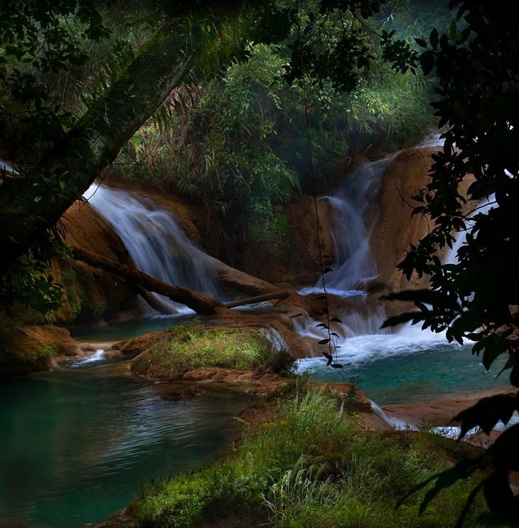 Foto de Cascadas de agua azul, Chiapas, México.