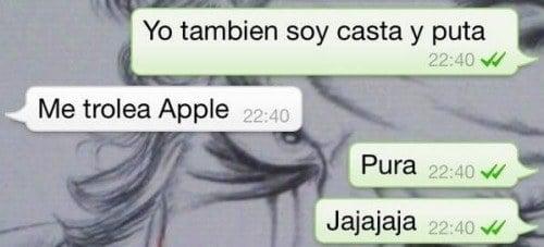 Mensaje de texto trolleado por apple