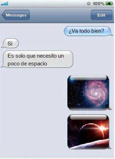 Mensaje de texto de respuesta a necesito espacio