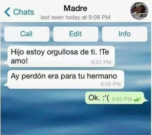 Mensaje de whatsapp equivocado