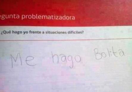 Respuesta de un examen de problemas