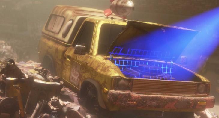 Camioneta de pizza planeta en Wall-E