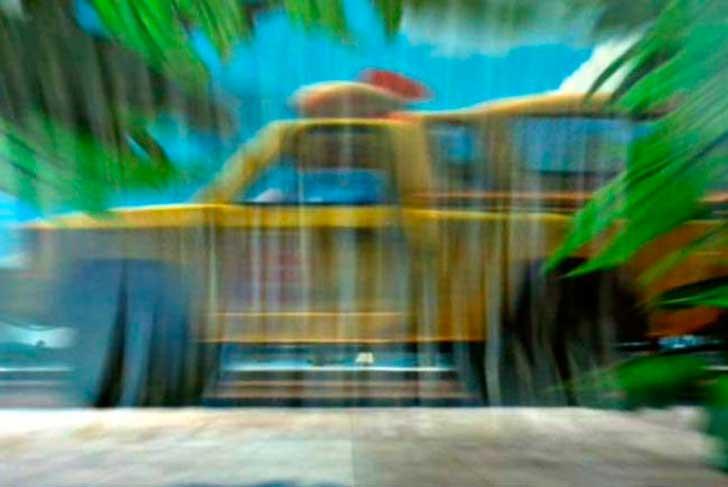 Camioneta de Pizza Planeta en Bichos